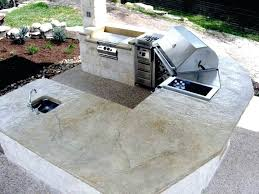 7 image outdoor kitchen concrete countertop diy with countertops and sink