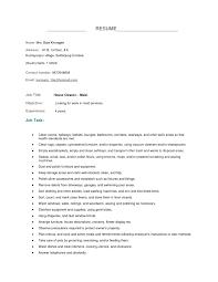 Resume Template Nanny Housekeeper Resume Sample Free Resume