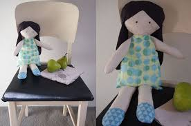 diy vintage stuffed doll toy i made this rag doll from fabric ss her