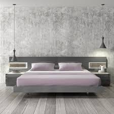 braga grey lacquer wood contemporary platform bed jm furniture