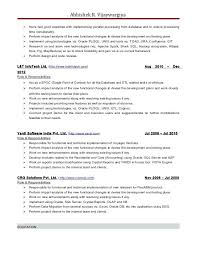 Sample Resume Of Net Developer