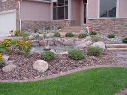 Small Picture Front Yard Rock Landscaping With Fountain Rocky Yard Will Please