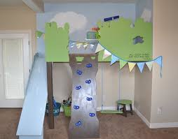 loft with slide. indoor tree house loft with slide and rock climbing wall, i am hardware featured on