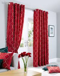 Maroon Curtains For Living Room Sicily Curtains Luxury Faux Silk Red Silver Embroidered Lined