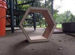 picture of easy hexagon shelf