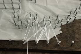 diy string art tree make the string around each nail on nail and string