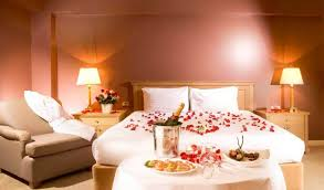 romantic bedroom roses. Nice Romantic Bedroom With Minimalist Furniture And Soft Wall Colors Roses In The Bed D
