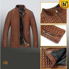 mens quilted leather jacket cw850009 cwmalls com