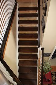 dark basement stairs.  Basement Staining Pine Stair Treads Intended Dark Basement Stairs