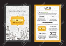 Vector Vintage Food Design Template Menu Restaurant Brochure