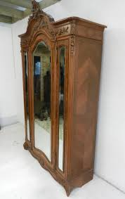 vintage antique furniture wardrobe walnut armoire. beautifully proportioned and decorated french walnut wardrobe armoire vintage antique furniture