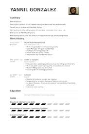 Front Desk Receptionist Resume samples - VisualCV resume samples .