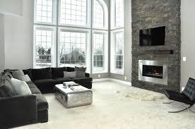 Gray Brick Fireplace White Brick Fireplace With Gray Walls