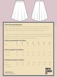Circle Skirt Chart Full Circle Skirt Pdf Sewing Pattern