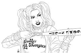 Harley Quinn Coloring Pages Coloring Pages For Coloring Pages For