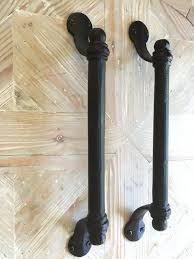 black iron pull bar handle barn door handle large drawer pull gate handle farmhouse style active note if you are planning