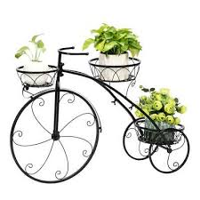 <b>Bicycle Plant Stand</b> Decor Home Garden Basket Flower Yard Pot ...
