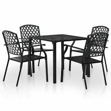 steel mesh bistro set outdoor garden