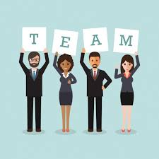 working as a team working team design vector free download