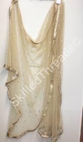 Designer Net Dupatta Online Beige Net Dupatta Beautifully Done Fashion Fashontrends