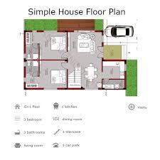 simple floor plans. Duplex House Plans Customized As Per User Requirements Simple Floor E