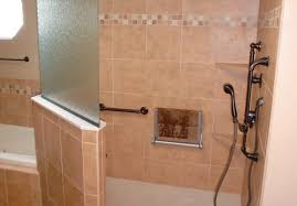 small walk tile picture steam room custom seniors mehndi ideas designs doorless bathroom without corner shower