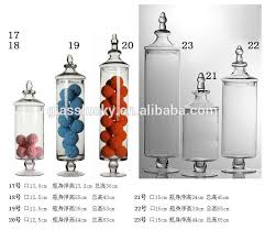 Decorative Glass Candy Jars Fancy Tall Footed Pedestal Glass Candy JarGlass Jar For Candy 52