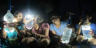 lighting without electricity. plastic lamps lighting up homes without electricity 1