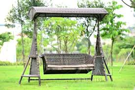 china new design stainless steel garden swing chair