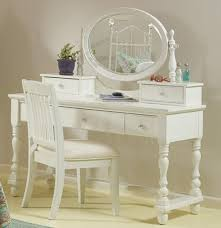 vanity desk with mirror and chair  creative vanity decoration