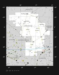 The Constellation Ophiuchus Showing The Rho Ophiuchi Star