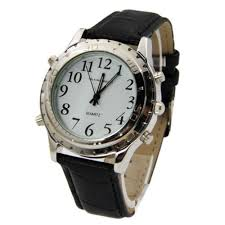 talking watches for men promotion shop for promotional talking new style relogio masculino quartz watch women men english talking clock stainless steel for blind or visually impaired watch 0