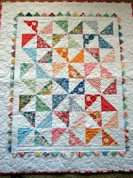 Pinwheel Baby Quilt - used a charm pack of Snippets by American ... & Pinwheel Baby Quilt - used a charm pack of Snippets by American Jane Adamdwight.com