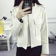 new women s autumn cardigan coat short trend jacket leather suede baby pink ultramarine