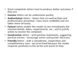 how to write a letter of complaint ppt video online 2 good complaints