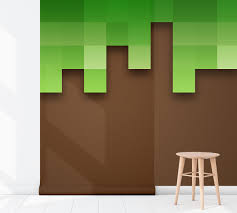 Kinderkamer Behang Minecraft Aarde Dielconl