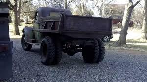 1942 chevy 1- 1/2 ton dump truck test drive - YouTube