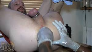 Gay male deep punch fisting