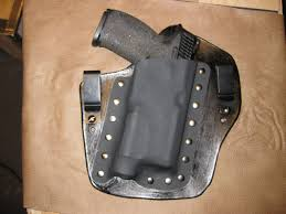 diy iwb kydex leather holster for sw mp with tactical light
