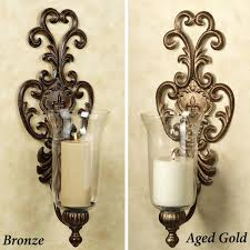 sconce mid century modern candle sconces antique candle sconces with bronze finish and glass shade