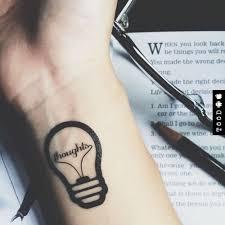 Amazoncom Light Bulb Temporary Fake Tattoo Sticker Set Of 2