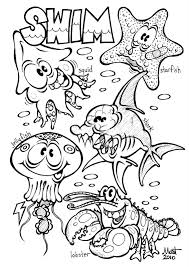 Small Picture Coloring Pages Sea Animals Ocean Creatures Coloring Pages