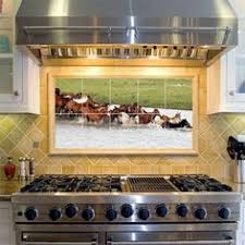 Mural Tiles For Kitchen Decor horse decorated kitchen Horse Murals Kitchen Tile Backsplashes 33