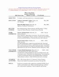 Nursing Resume Templates Word Inspirational Resume Templates For