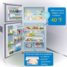 graphic of an open fridge that has food in it text reads make sure