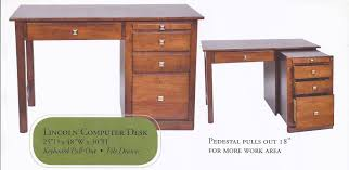 Office desk with drawers Grey Lincoln Amishcrafted Computer Desk House Of Oak Sofas Home Office Furniture Small Student Desks