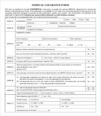 Medical Forms. Medical Release Form. Template Medical Clearance Form ...