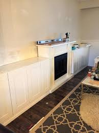 Living Room Built In Cabinets Built Ins Around Electric Fireplace Archives A Purdy Little House
