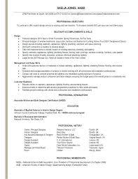 Resume Samples For Interior Designers. Interior Designer Resume ...