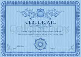Coupon Outline Template Certificate Or Coupon Template With Stock Vector